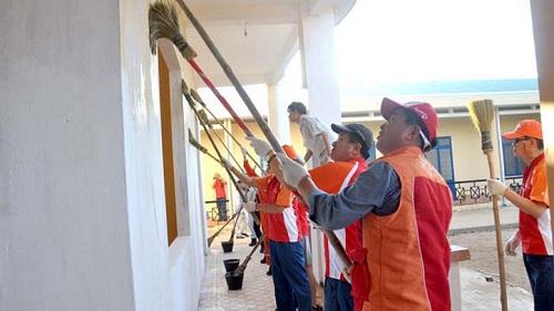 quét tường nhà