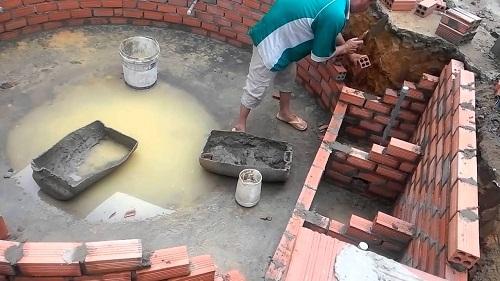 xây khung bể cá