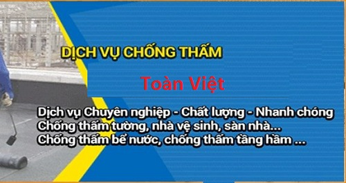 quy trình chống thấm Toàn Việt