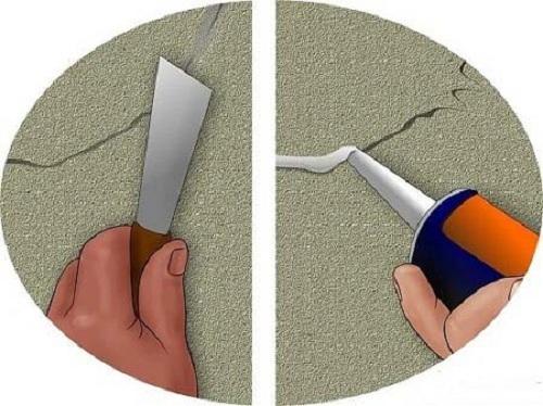 xử lý vết nứt tường