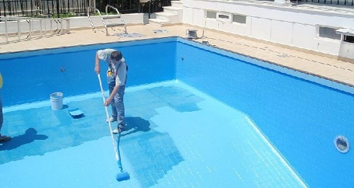 Chống thấm bể bơi bằng vật liệu gốc polyurethane