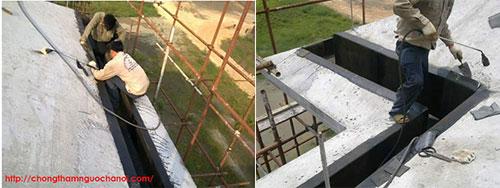 chống thấm máng xối bê tông