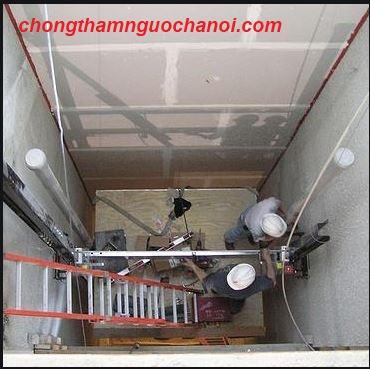chống thấm hố thang máy