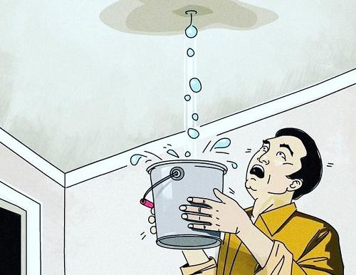 Trần nhà thấm nước