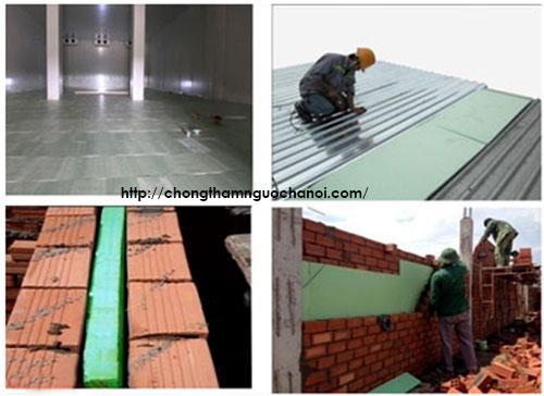 Xốp cách nhiệt dán trần - tường nhà